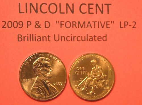 2009 P/&D UNCIRCULATED LINCOLN BICENTENNIAL CENT PENNY SET FORMATIVE YEARS