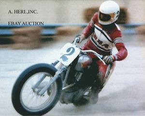 BSA twin Jim Rice Ascott 1972 motorcycle racing photo photograph - Utr., Nederland - Staat: Nieuw: Een gloednieuw, ongebruikt, ongeopend, onbeschadigd object. Zie de aanbieding van de verkoper voor volledige details. ... - Utr., Nederland