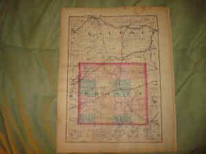 St Joseph Branch County Michigan Antique Map Coldwater Ebay