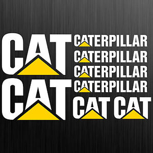 Caterpillar-CAT-aufkleber-sticker-bagger-excavator-8-Stucke-Pieces