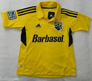 NWT~Adidas COLUMBUS CREW MLS USA Football Soccer Jersey Shirt Top ... c38f3d15b
