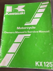 Kawasaki-Motorcycle-OEM-KX125-KX125-D1-Owner-039-s-amp-Service-Manual-99920-1289-01