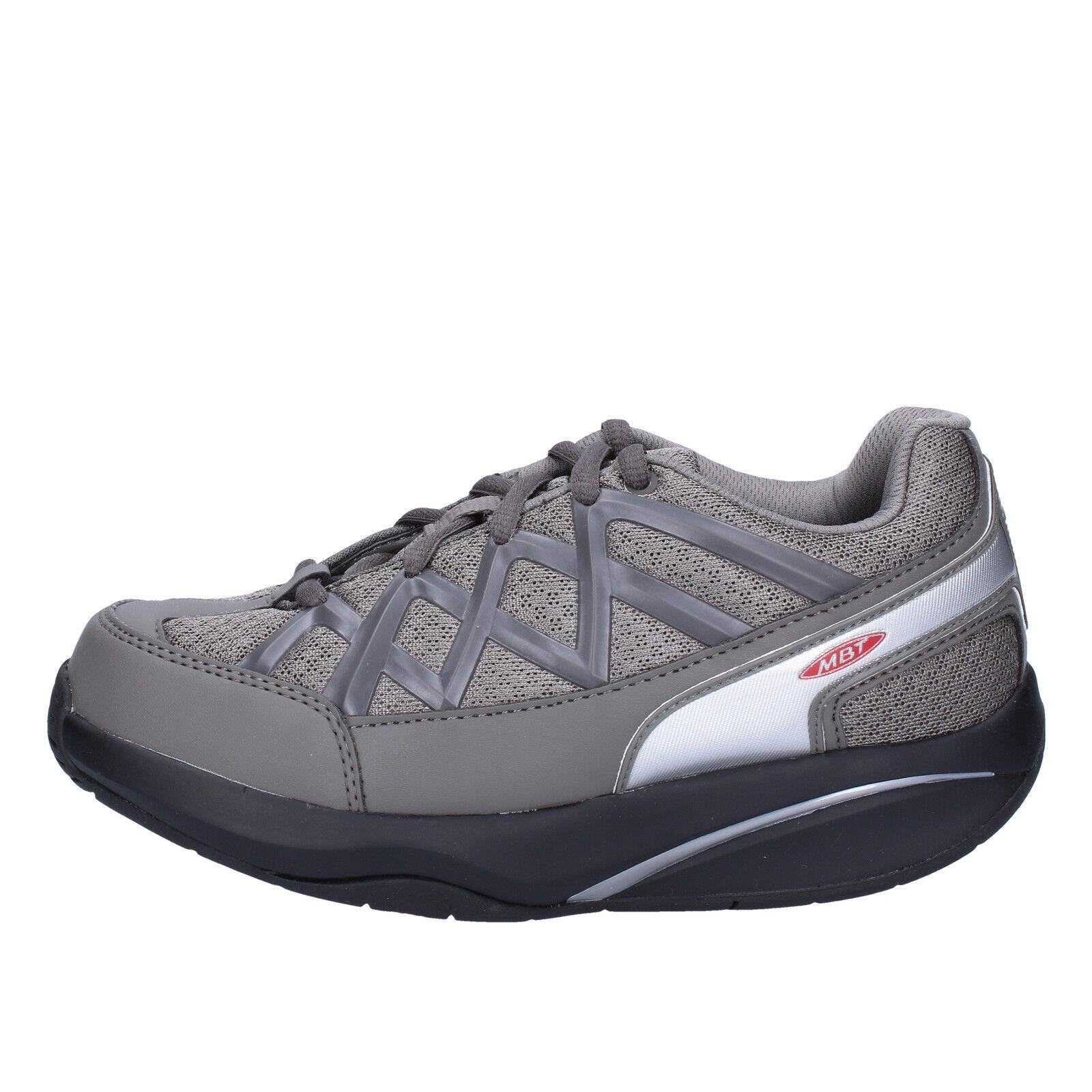 women's shoes MBT 5 / 5,5 () sneakers gray textile dynamic AB390-36