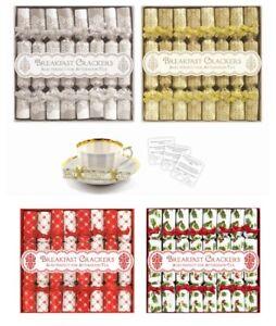 8-Mini-Lusso-colazione-te-pomeridiano-piattino-Christmas-Cracker-BOMBONIERE