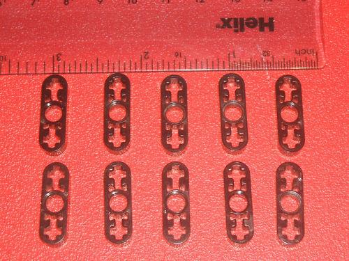 Lego Technic Black Liftarm Plate 1 x 3 with 3 holes