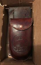 Vintage Leathercraft Pocket Quiver, Bear, Dark Brown, with detachable bag