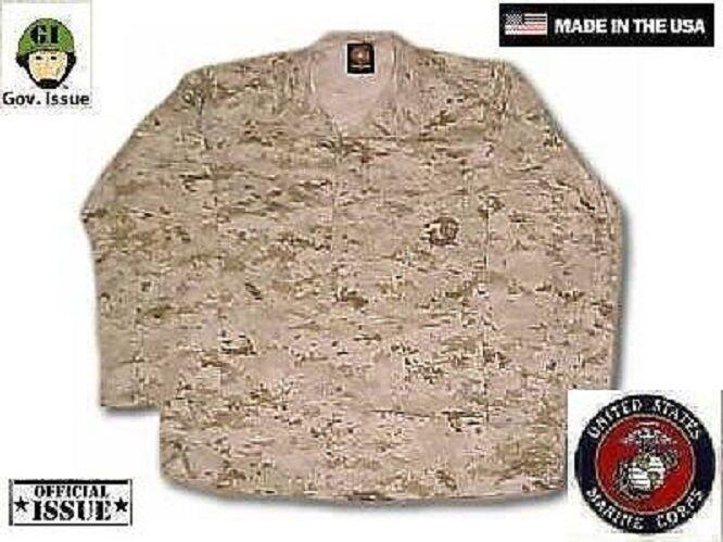 US Marine Desert Corps USMC MARPAT Desert Marine Digital Army Giacca Coat SL Small Long bf9549