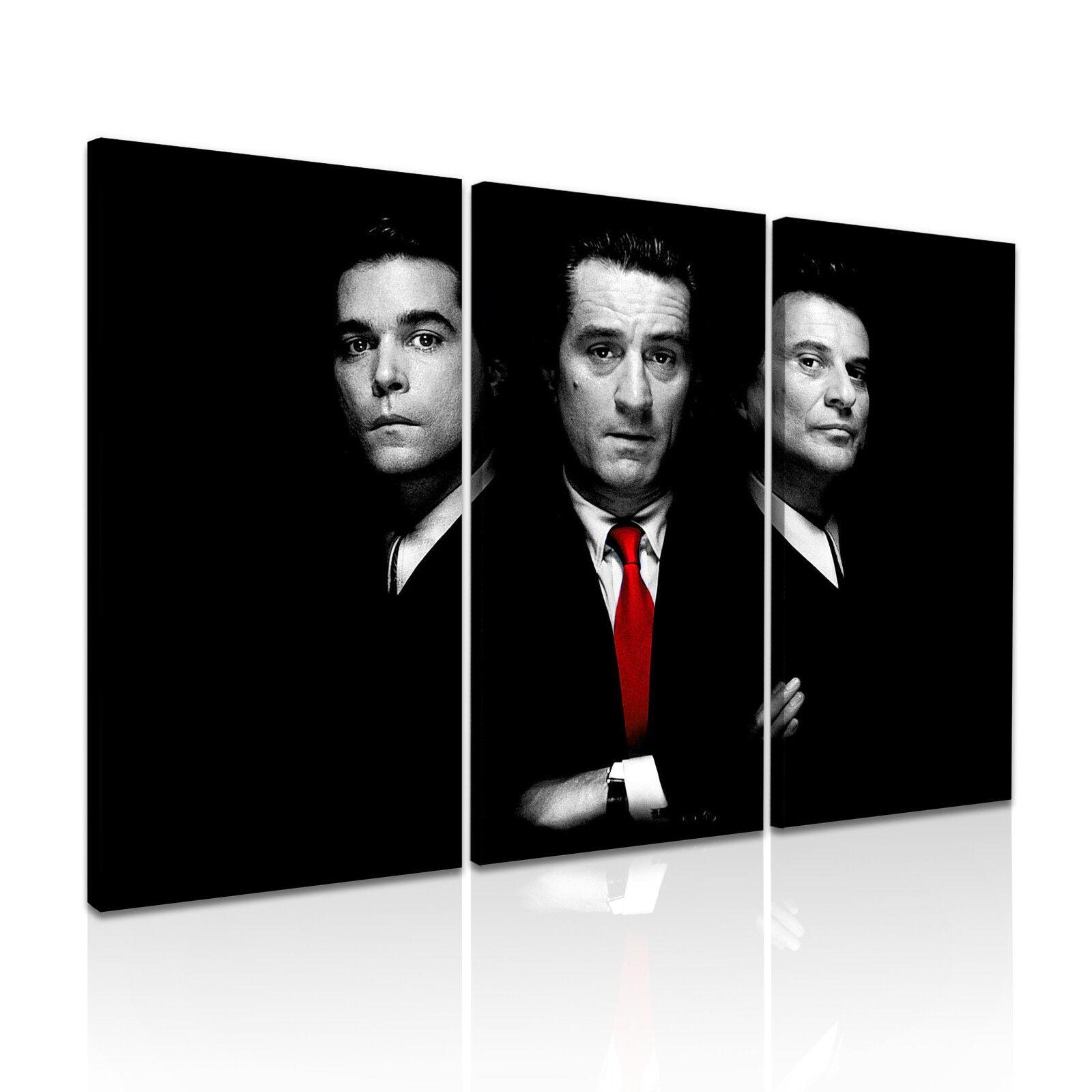 ' Goodfellas ' Classic Movie Film Canvas Wall Art Deco Box  3 Panels