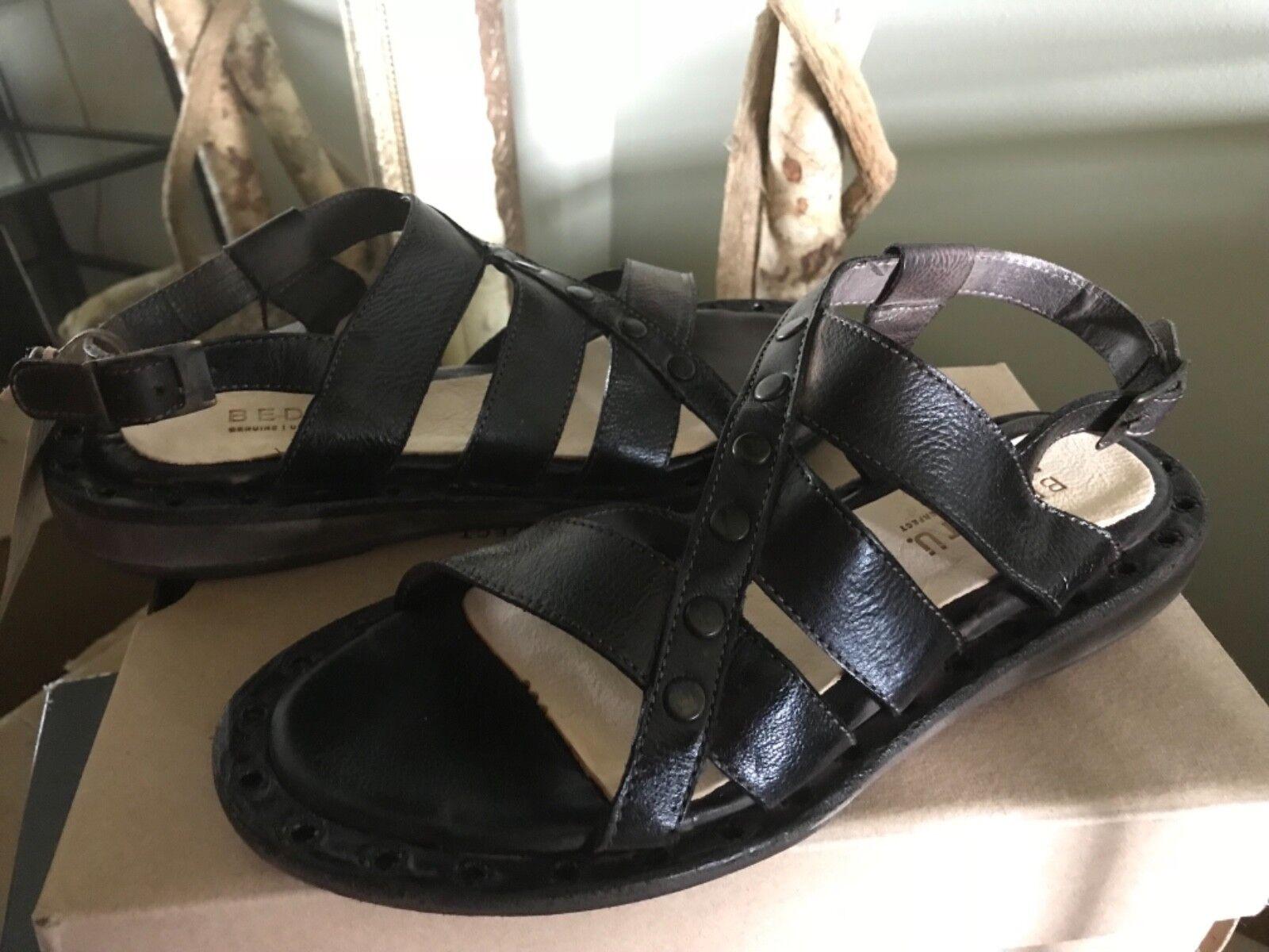 BED STU Kavala donna  Teak Leather Sandals 7M MSRP  159  negozio online