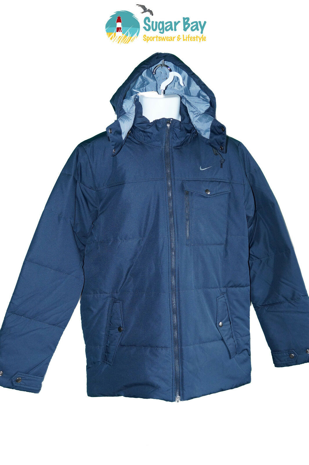 b8e8acc49018 New NIKE Mens NSW Considered Design Insulated Navy bluee M Sportswear Parka  ntcjic17460-Coats   Jackets