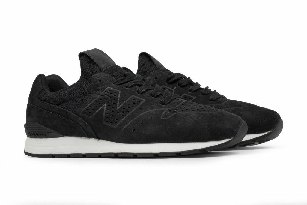 NEW BALANCE MENS MRL696DK DECONSTRUCTED BLACK SUEDE LEATHER SNEAKERS SIZE 8
