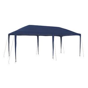 Steckpavillon-3x6-m-Pavillon-Zelt-Partyzelt-Gartenzelt-Steckzelt-blau-B-Ware