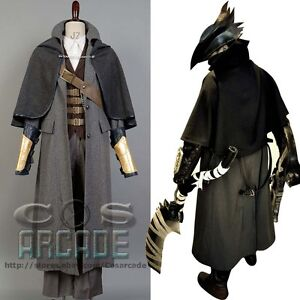 Bloodborne The Hunter Set Cosplay Costume Jacket Coat Outfit Suit