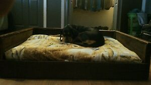 Details About Handmade Rustic Wooden Dog Beds