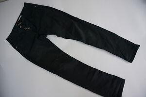 Please-Femmes-Jeans-Super-Pantalon-Stretch-TAILLE-S-L30-Petit-Noir-Slim-Maigre