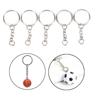 Stainless-Steel-Keyring-With-Chain-Split-Key-Rings-Loop-Connector-Hobby-Making