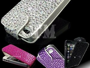 Luxury-Sparkle-Gem-Diamond-Bling-Flip-leather-case-cover-for-Apple-Samsung-Sony