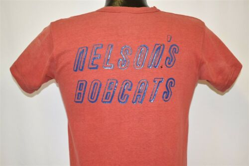 vintage 50s NELSON'S BOBCATS DISTRESSED RED RUSSEL