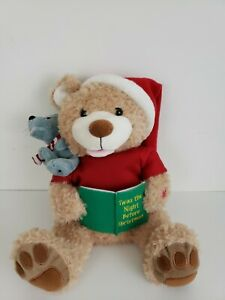 Pbc-Int-Story-Time-Talking-Plush-Twas-Night-Before-Christmas-Bear-10-5-034-Animated