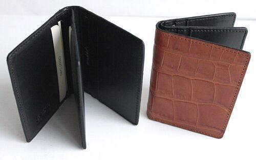 Golunski LEATHER Credit Card Holder Wallet Blue Caramel or Brown
