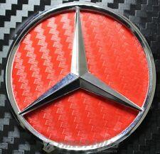 Carbon Rot Mercedes Stern Lenkrad Emblem Ecken MB - AMG E190 NEU 46mm
