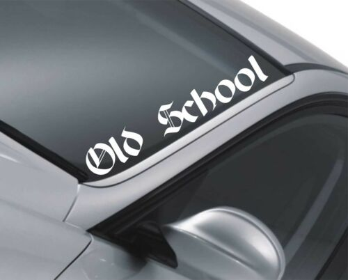 Old School Car Windscreen Sticker Funny Lowered Vauxhall Astra Corsa Decal m102