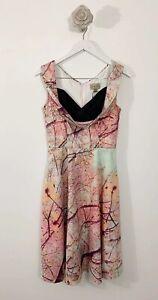 ladies-Lindy-Bop-Spring-Branches-Mix-Dress-Sz-10-Pastel-Sleeveless-Ophelia