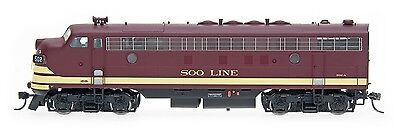 InterMountain HO 49946S SOO Line Maroon  FP7 Locomotive DCC Sound