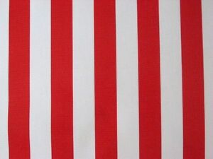 Red White Cabana Xmas Circus Stripe Usa Flag Oilcloth Vinyl Sew
