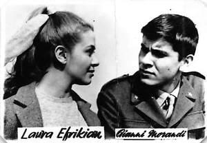 B59137 Laura Efrikian and Gianni Morandi actors acteurs 9x7cm