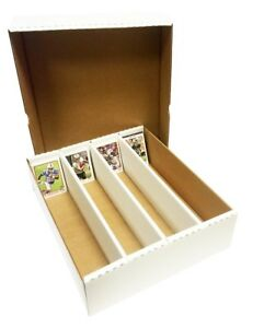(4) CARDBOARD 3200 CT. MAX PRO MONSTER SHOEBOX 4 ROW STORAGE TRADING CARD BOXES