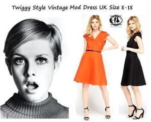 LADIES-60-039-s-STYLE-TWIGGY-MOD-SKATER-DRESS-PADDED-VINTAGE-PLUS-SIZE-8-18-CURVE