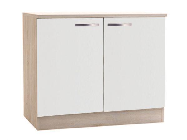 Küchenunterschrank  Weiß 391702    100cm sonoma-eiche weiss fbb8b8