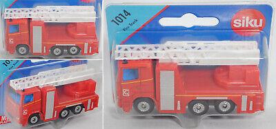 "° NEU Siku 1014 Scania Feuerwehrdrehleiter /""Notruf 18/"" rot Blister"