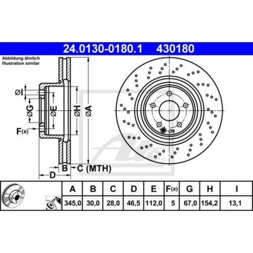 Disque de frein 1 Unités UAT 24.0130-0180.1