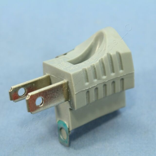Male Female Electrical Ground Adapter 2 Prong Outlet To 3 Prong Plug