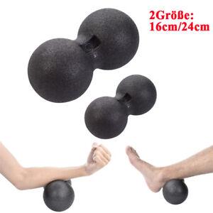 Faszienrolle Doppelball Massageball Fitnessrolle Balance Faszienball Fitnessball
