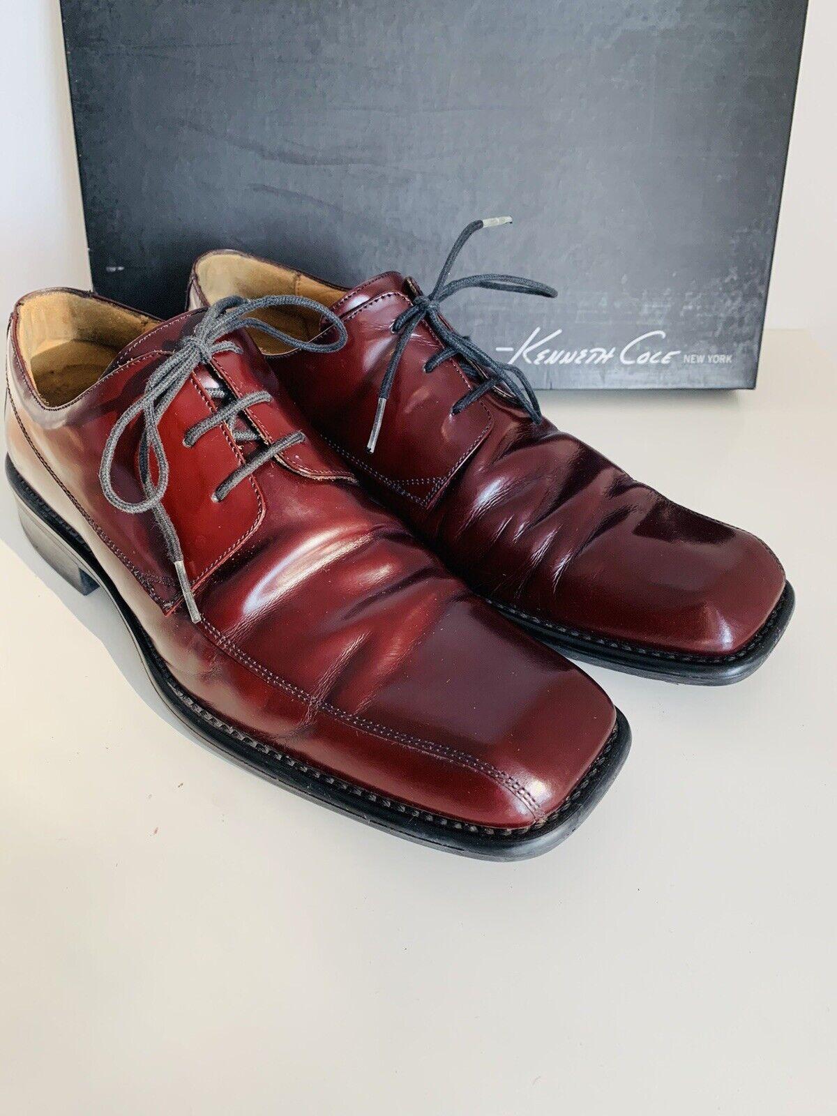 Kenneth Cole Nuovo York Men's Borgogna Lace-up scarpe di pelle Taglia  9 | Ampie Varietà  | Scolaro/Signora Scarpa