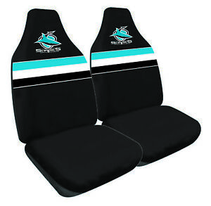 CRONULLA-SHARKS-Official-NRL-Seat-Covers-Airbag-Compatible-NEW-2018-Design