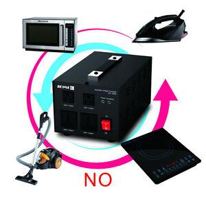 1000W Watt Voltage Converter Transformer Heavy Duty Step Up Down 110V 220V