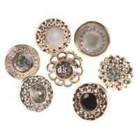 100 Pcs Mixed Rose Gold Enamel Resin Round Shank Buttons Scrapbooking 13mm