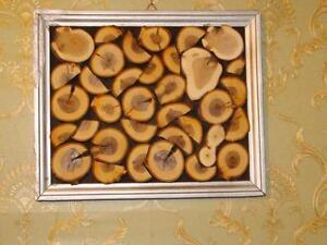 Holzbild Wanddeko Shabby Natur Bild Holzscheiben