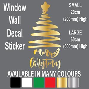Merry Christmas Window Sticker XMAS TREE Vinyl Art Home Store Wall Decal Decor