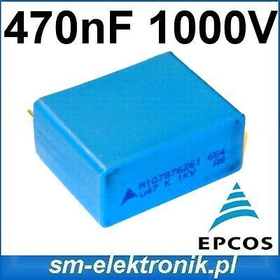 MKP Capacitor 0,47uf 470nf 1000v DC EPCOS b32654 high pulse CONDENSATORE
