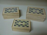 Studio Nova Wood Nesting Boxes Set Of 3 Blue Green Cream Color