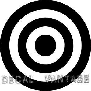 Bullseye-Vinyl-Sticker-Decal-Bull-039-s-Eye-Military-Choose-Size-amp-Color