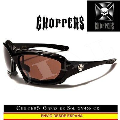 CHOPPERS Gafas de Sol UVAB CE Moto Marron Custom Biker Sunglasses