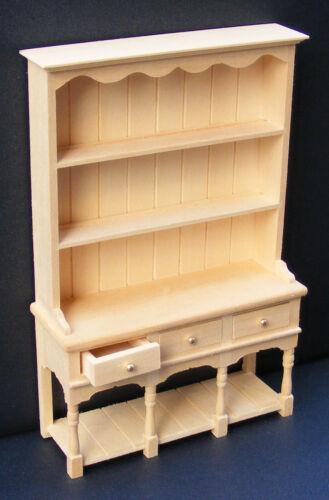 Échelle 1:12 finition naturelle commode à 3 tiroirs tumdee maison de poupées miniature 06