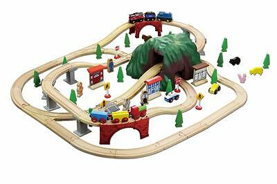 Wooden Railway Mountain Train Set