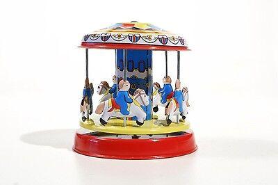 Blechspielzeug Kleines Karussell Pferde °° Tin Toy °° Caroussel En Tôle °° Schrecklicher Wert Spielzeug